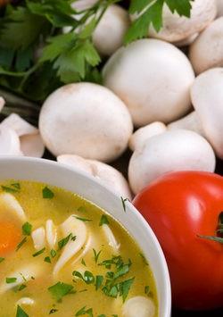 tomate clado y champiñones