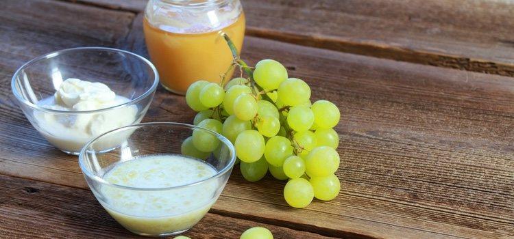 Las mascarillas con uvas sirven para reafirmar y iluminar y reducir las arrugas de tu piel