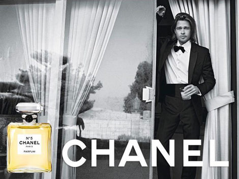 Brad Pitt imagen de Chanel Nº5