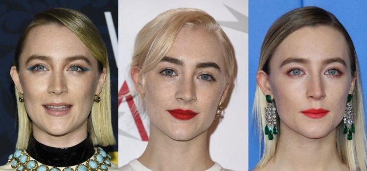 Saoirse Ronan opta por unas cejas oscuras que contrastan con su cabello
