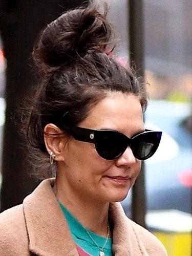 La actriz Katie Holmes paseando por Nueva York