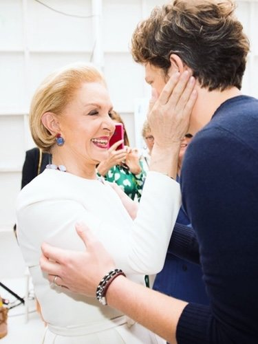 Carolina Herrera junto al director creativo Wes Gordon