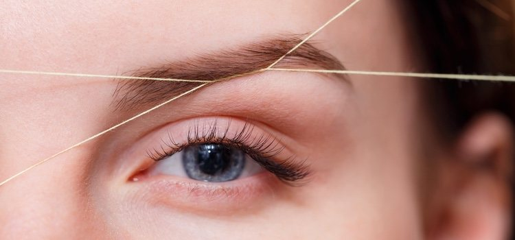 La depilación con hilo más habitual es en las cejas