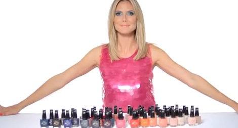 Heidi Klum con la nueva colección de esmaltes de uñas de Astor