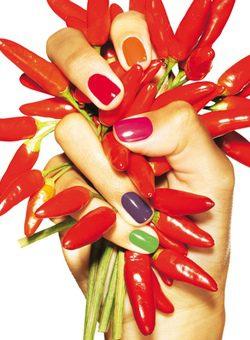 Colores de pintauñas de la colección 'Hot Nails'