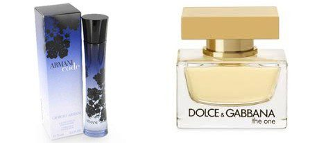 Los perfumes 'The One' y 'Armani Code'
