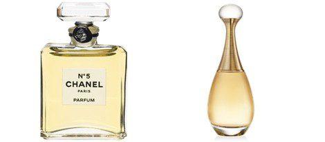 Los perfumes 'J'adore' y 'Channel nº5'