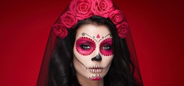 Maquillaje de calavera para halloween bekia belleza - Pintura cara halloween ...