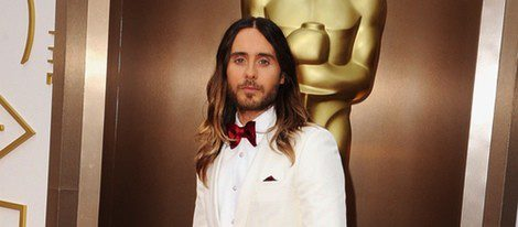 Jared Leto luciendo melena en los Oscar 2014