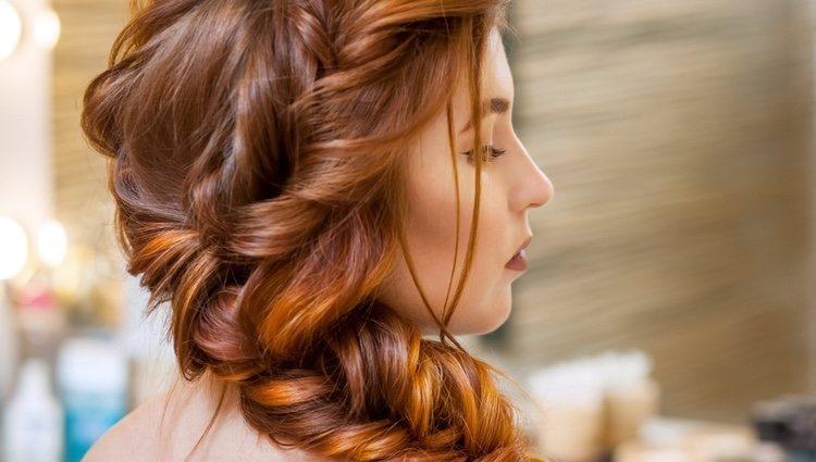 Mujer en una peluquería
