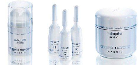 Tres de los productos de la línea 'Adapta' de Ángela Navarro