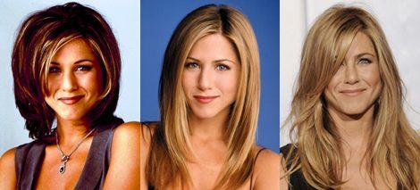 Cortes de pelo que ha lucido Jennifer Aniston durante sus diez temporadas en 'Friends'