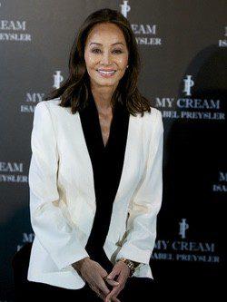 Isabel Preysler presentando sus productos 'My Cream' en Madrid