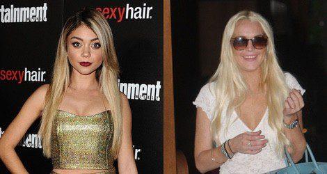 Lindsay Lohan y Sarah Hyland apuesta por el color rubio para su cabello