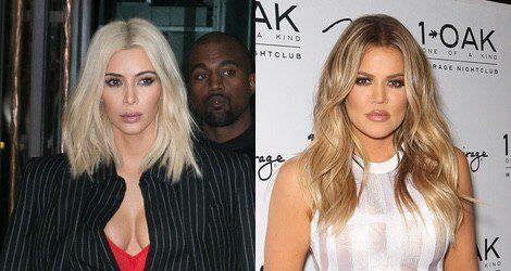 Las dos hermanas Kardashian teñidas de rubio platino