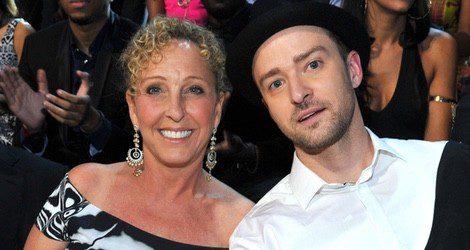 Lynn Harless y su hijo Justin Timberlake