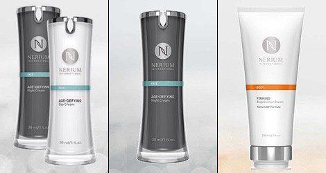 La gama de productos anti-edad de la firma Nerium