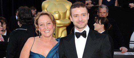 Lynn Harless y Justin Timberlake en los Oscar 2010