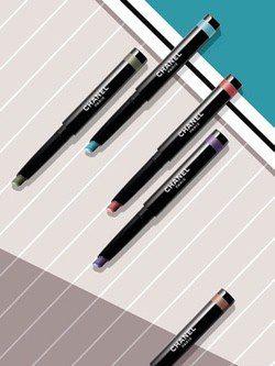 'Mediterranée' incluye una amplia oferta de sombras de ojos en formato lapiz en diferentes colores