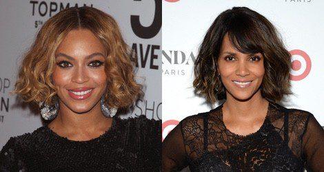 Beyoncé y Halle Berry prefieren incluir los rizos en su look bob