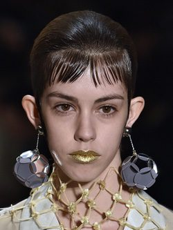 Make up de Prada en Milan Fashion Week