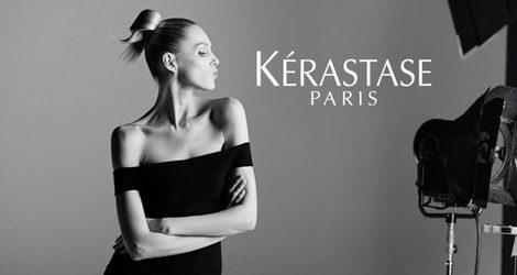 Anja Rubik en su primera sesión de fotos para Kérastase