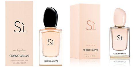 Otras fragancias de la línea 'Si' de Giorgio Armani