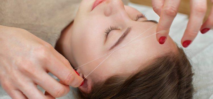 La depilación con hilo puede conllevar unos resultados indeseados