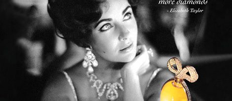 Imagen del perfume 'White Diamonds Night' con Elizabeth Taylor