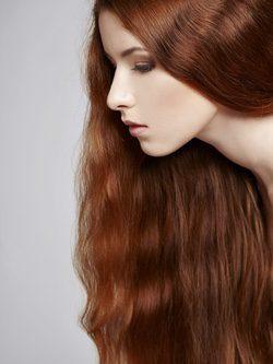 Sécate el pelo en vertical