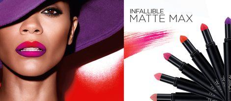 La línea 'Infallible Mate Max' contiene seis tonos con pigmentos de color mate en polvo