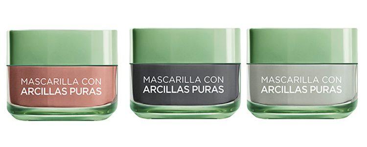 Mascarilla roja Exfoliante, Mascarilla negra Detox y Mascarilla verde Purificante