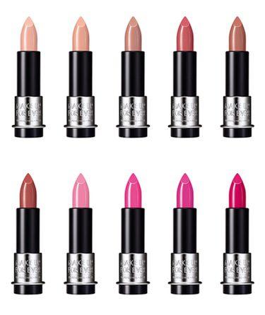 Algunas de las barras de labios de la nueva colección de Make Up For Ever