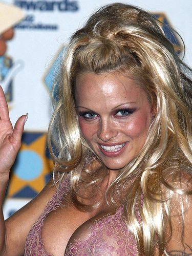 Pamela Anderson con el pelo muy brillante