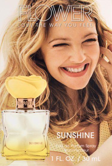 Drew Barrymore con su 'Sunshine'