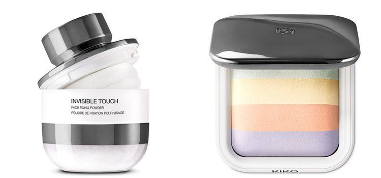 De izq a dch: Invisible Touch Face Fixing Powder y Colour Correction Face Fixing Powder