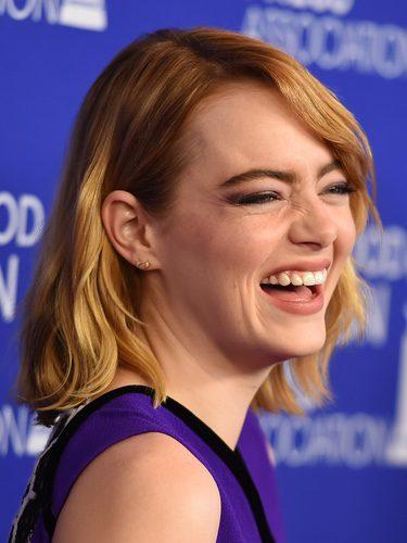 Emma Stone con un corte bob pelirrojo