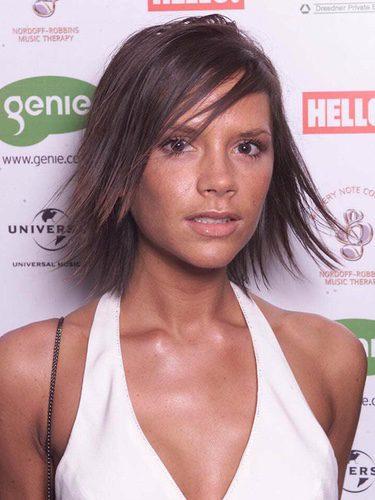 Victoria Beckham con un corte bob de punta