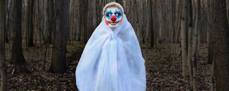 La cara pintada de payaso es una opción terrorífica