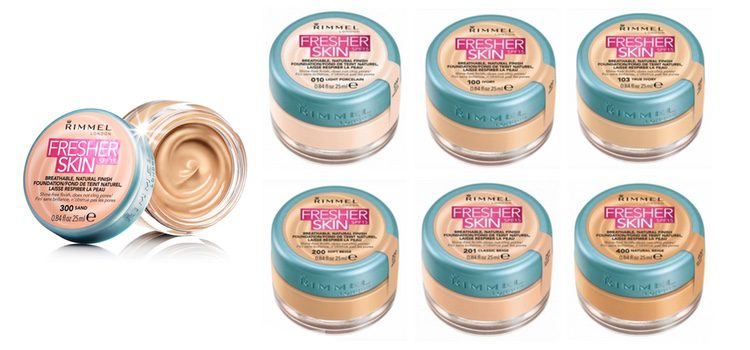 Distintos tonos de 'Fresher Skin' de Rimmel London