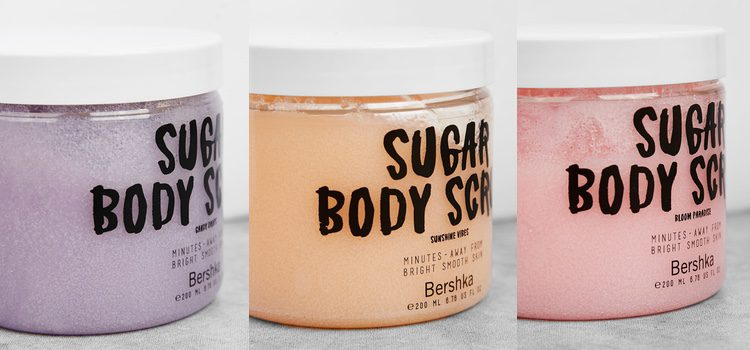 'Sugar Body Scrub' en los tres aromas: Candy Drops, Sunshine Vibes y Bloom Paradise