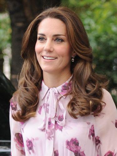 Kate Middleton con una melena ahuecada