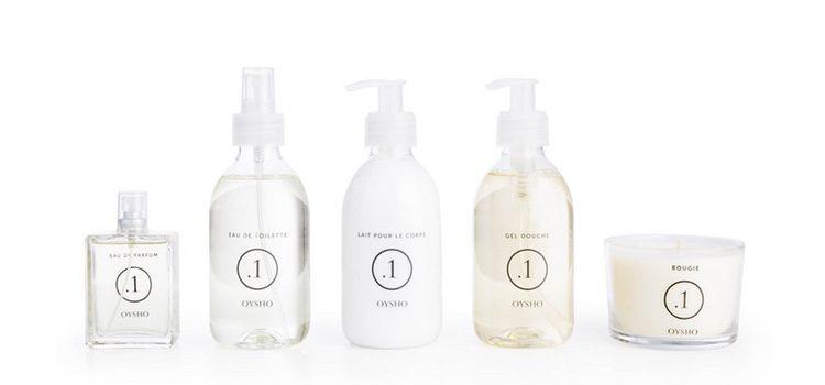 El Eau de Parfum, Eau de Toilette, Body Milk, Gel de Ducha y la vela de la colección .1 de Oysho