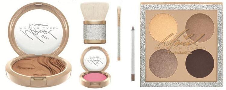 Productos para rostro y ojos de la colección de maquillaje de Mariah Carey x MAC