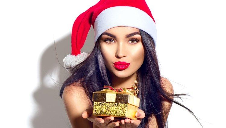 Los labios rojos son muy navideños