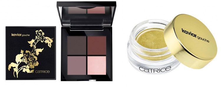 La paleta de sombras en polvo y la sombra cremosa o eyeliner de 'Kaviar Gauche x Catrice'