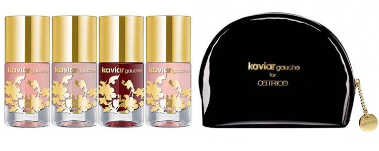 Los esmaltes y el neceser de la colección 'Kaviar Gauche x Catrice'