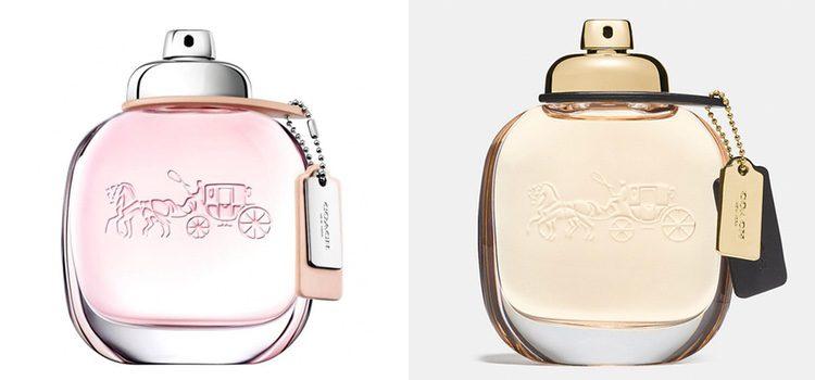 A la izquierda la versión Eau de Toilette y a la derecha la versión Eau de Parfum
