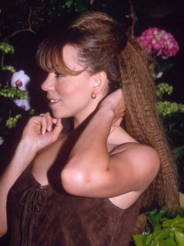 Mariah Carey con un peinado crimped
