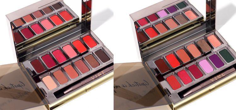 De izq a dch: 'Blackmail Vice Lipstick Palette' y 'Junkie Vice Lipstick Palette',